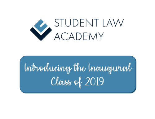 Meet the 2019 Student Law Academy Scholars